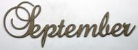 SEPTEMBER - Fancy Chipboard Word