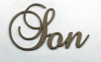 SON - Fancy Chipboard Word