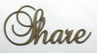 SHARE - Fancy Chipboard Word