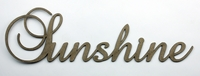 SUNSHINE - Fancy Chipboard Word
