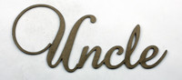 UNCLE - Fancy Chipboard Word