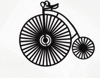 Old Time Tricycle Silhouette