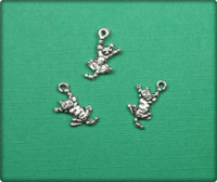 Cat Charm - Antique Silver