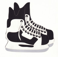 Hockey Skates Die Cut