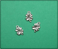 Four Leaf Clover Charm - Antique Silver