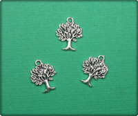 Aspen Tree Charm - Antique Silver