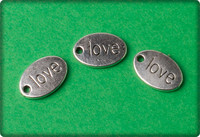 Love Charm - Antique Silver