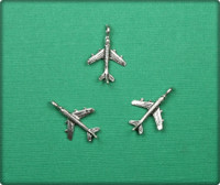 Airplane Charm - Antique Silver