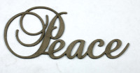 PEACE - Fancy Chipboard Word