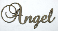 Angel - Fancy Chipboard Word