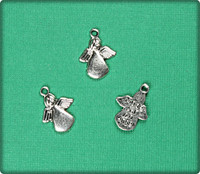 Made for an Angel Charm - Antique Silver