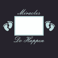 Miracles Do Happen Baby Blue - 12x12 Overlay