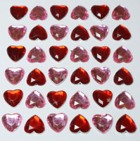 Bling Hearts - Pink and Red Rhinestones