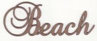 Beach - Fancy Chipboard Word