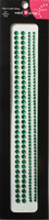 "Sleek Strips 6"" Rhinestones - Dark Green"