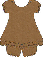 Baby Outfit with Bloomers - Chipboard Album