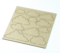 Clouds  - Chipboard Embellishment
