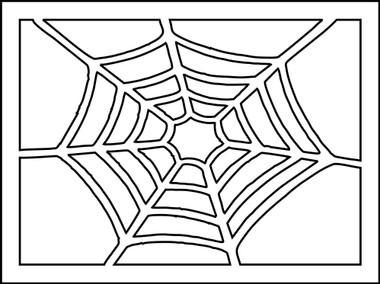 spider web stencil want2scrap. Black Bedroom Furniture Sets. Home Design Ideas