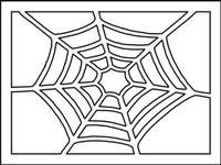 Spider Web Stencil - 8x10
