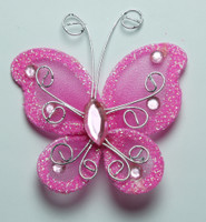 "Butterfly - 2"" Shocking Pink"