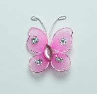"Butterfly - 1"" Shocking Pink"