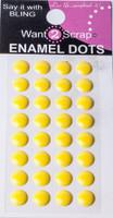 Enamel Dots 8mm Stone Size - Yellow