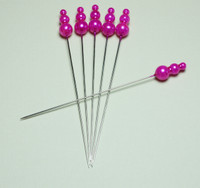Decorative Pin Jewels - Hot Pink - Set of 6
