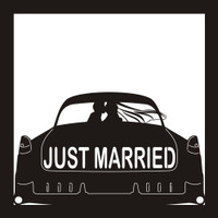 Just Married - 12x12 Overlay