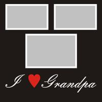 "I ""Heart"" Grandpa - 12x12 Overlay"