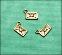 Love Letter Charm - Antique Brass