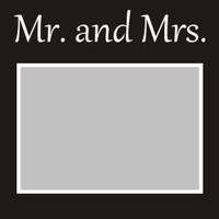 Mr and Mrs - 6x6 Overlay