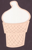 Ice Cream Cone - Die Cut