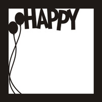 Happy - 12x12 Overlay