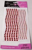 250 Count Rhinestones Red