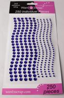 250 Count Rhinestones Purple