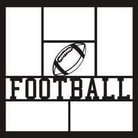 Football with Ball - 12x12 Overlay