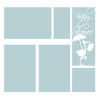 Baby Shower Blue  - 12x12 Overlay