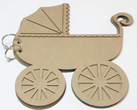 Vintage Baby Carriage - Chipboard Album