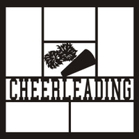 Cheerleading with Megaphone and PomPoms - 12x12 Overlay