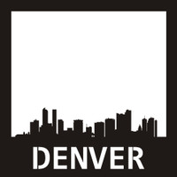 Denver Skyline- 12x12 Overlay