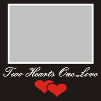 Two Hearts One Love - 6x6 Overlay