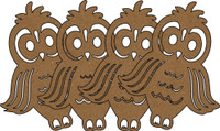 Owls Chipboard Embellishments - Pack of 4