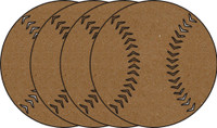 Baseballs 4 Pack - Chipboard Shapes