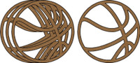 Basketballs 4 Pack - Chipboard Shapes