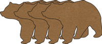Bears 4 Pack - Chipboard Shapes