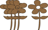 Daisies 4 Pack - Chipboard Shapes