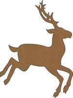 Reindeer - Large Chipboard Embellishment