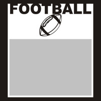 Football with Ball - 6x6 Overlay
