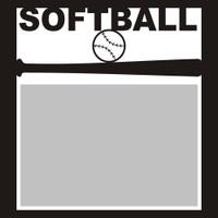 Softball with Ball - 6x6 Overlay