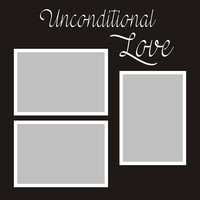 Unconditional Love - 12x12 Overlay